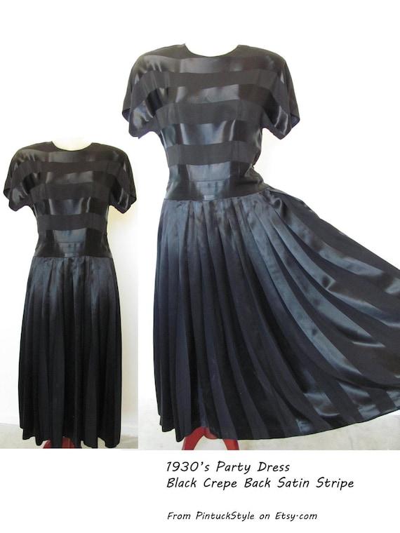 SALE. 30s Satin Evening Dress / Vintage 1930s 40s,