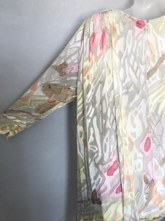Travilla Dress, 80s Hand Painted Couture Silk Chi… - image 6