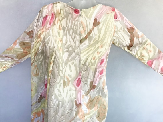 Travilla Dress, 80s Hand Painted Couture Silk Chi… - image 7
