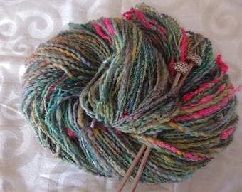 Fordyce Garden handspun art yarn, 170 yards of merino glory!