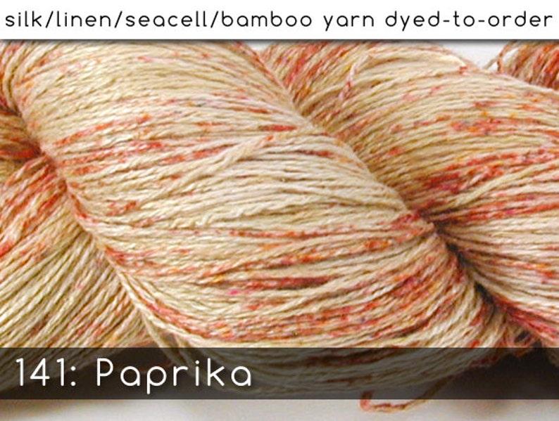 DtO 141: Paprika on Silk/Linen/SeaSilk/Bamboo Yarn Custom image 0