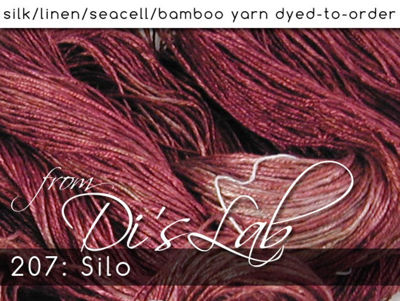 From the Lab  DtO 207 Silo on Silk/Linen/Seacell/Bamboo Yarn image 0