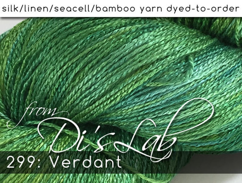 From the Lab  DtO 299: Verdant on Silk/Linen/Seacell/Bamboo image 0