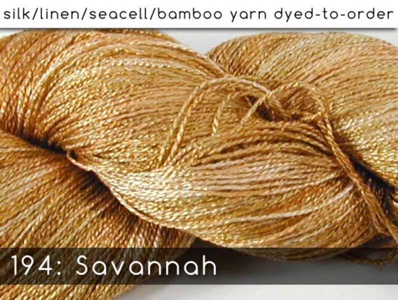 DtO 194: Savannah on Silk/Linen/Seacell/Bamboo Yarn Custom image 0