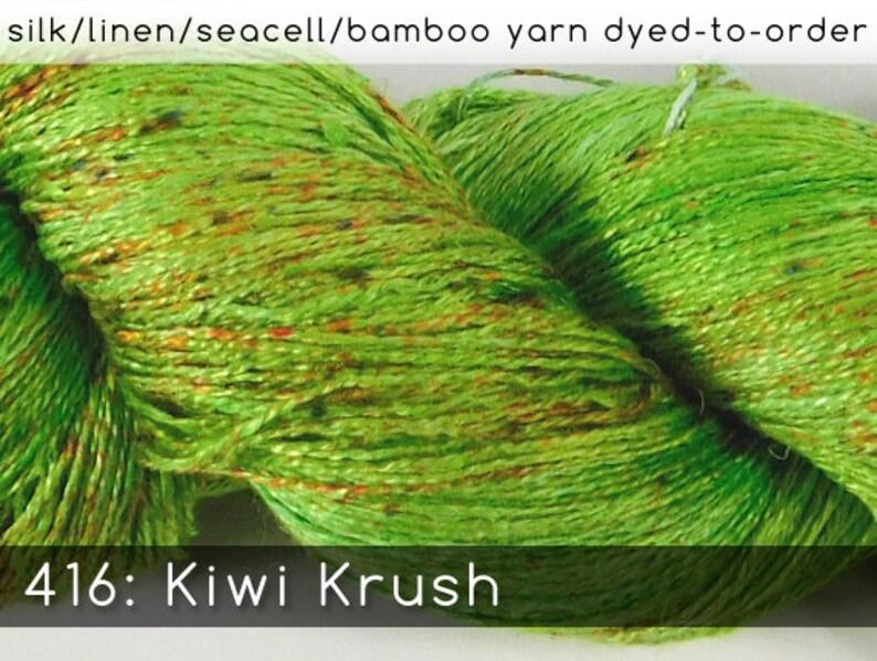 DtO 416: Kiwi Krush on Silk/Linen/Seacell/Bamboo Yarn Custom image 0