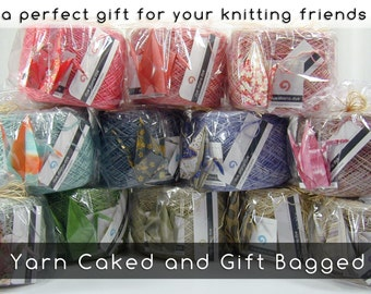 Yarn Caked and Optionally Gift Bagged, an add-on service for your dyedianadye yarns