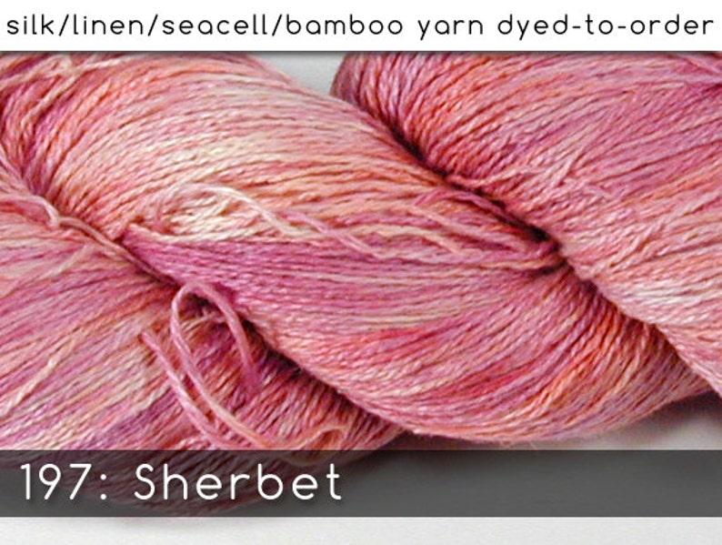 DtO 197: Sherbet on Silk/Linen/Seacell/Bamboo Yarn Custom image 0