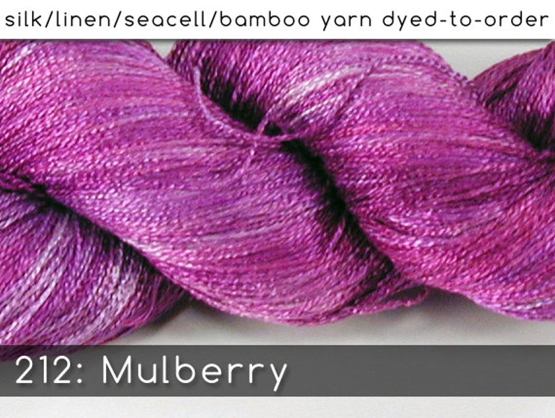 DtO 212: Mulberry on Silk/Linen/Seacell/Bamboo Yarn Custom image 0