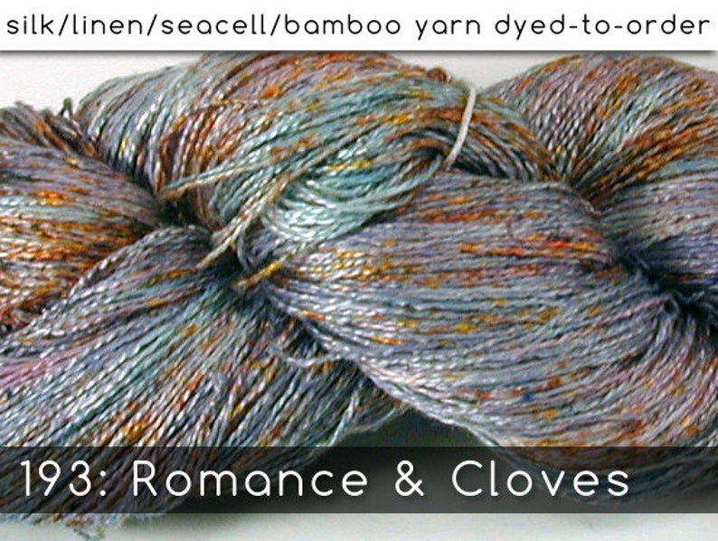 DtO 193: Romance & Cloves on Silk/Linen/Seacell/Bamboo Yarn image 0