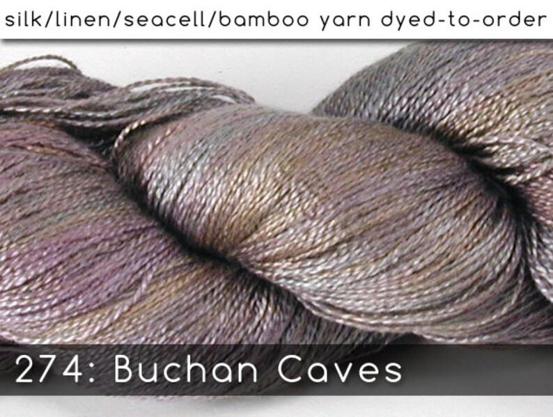 DtO 274: Buchan Caves on Silk/Linen/Seacell/Bamboo Yarn Custom image 0