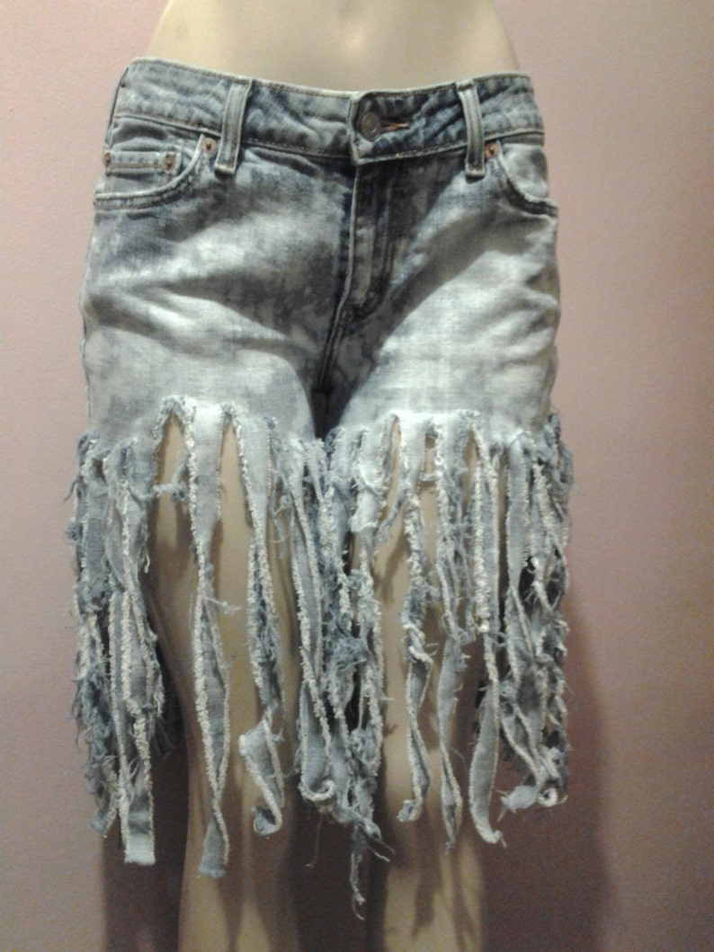 Womens Shorts Custom Made to Order Only Uniquely Cut Womens Denim Short Uncycle Jean Shorts