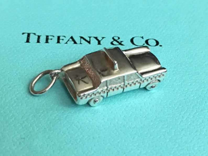 9d657ec57 Tiffany & Co Sterling New York Taxi Cab charm Retired | Etsy