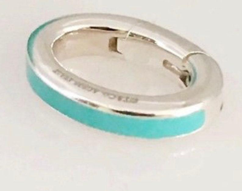 95190fbbe53b6 Tiffany & Co. Blue Enamel Clasping Charm Link (1)