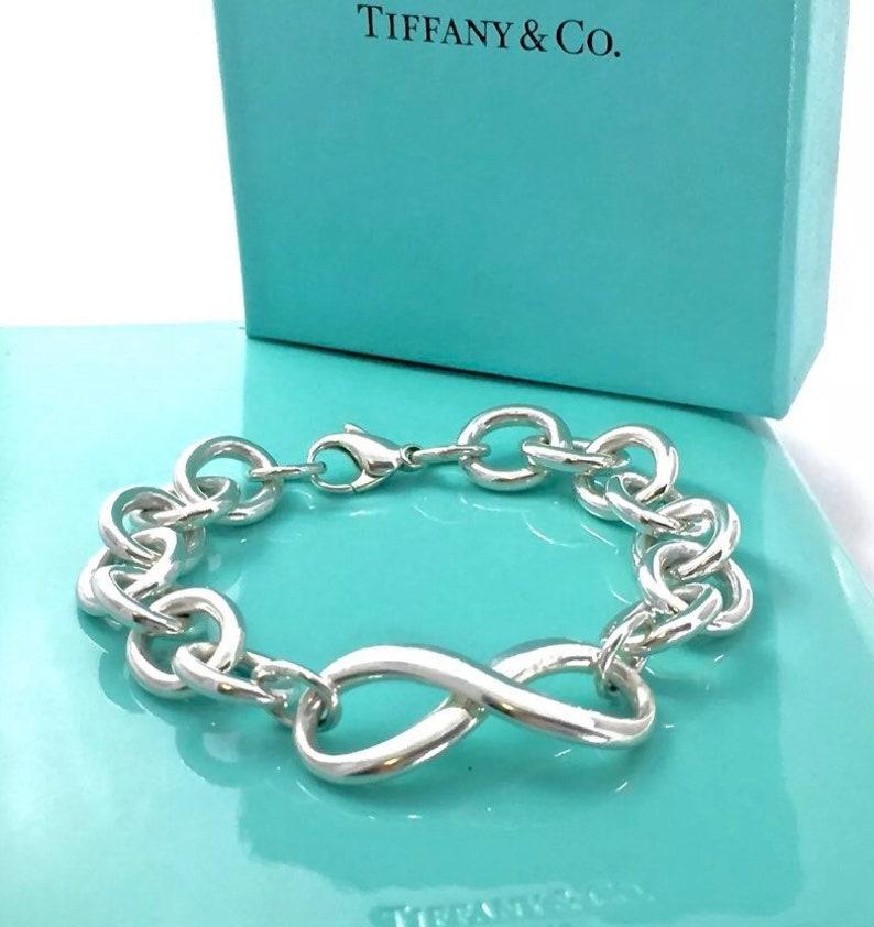 c311af71cb55e Tiffany & Co XLARGE Link Sterling Infinity Bracelet 7.5