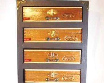 Cigar Box Cabinet, Jewelry Box, Trinket Box, Keepsake Box, Valet Box, Stash Box, Padron Cigar Box #420