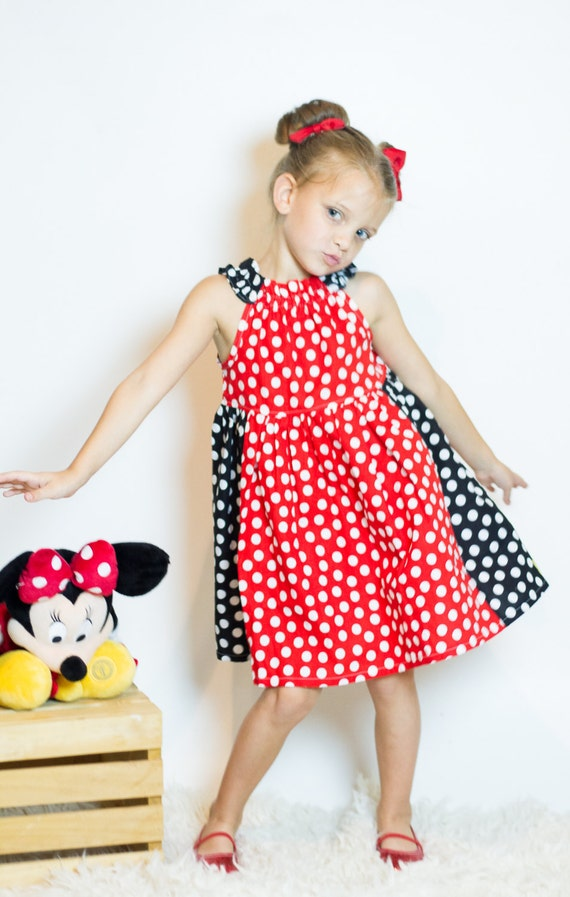 Miss Mouse Red Polka Dot Dress - Red and Black Polka Dot Dress