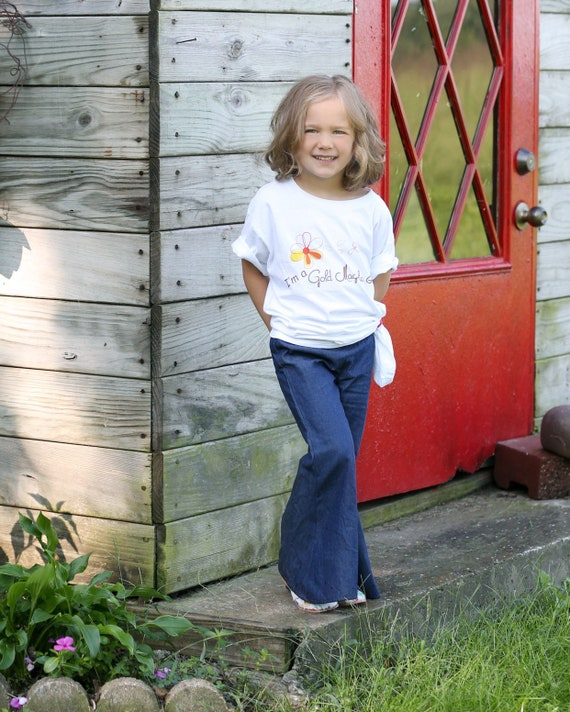 Girls Denim Bell Bottoms  - Bell Bottoms