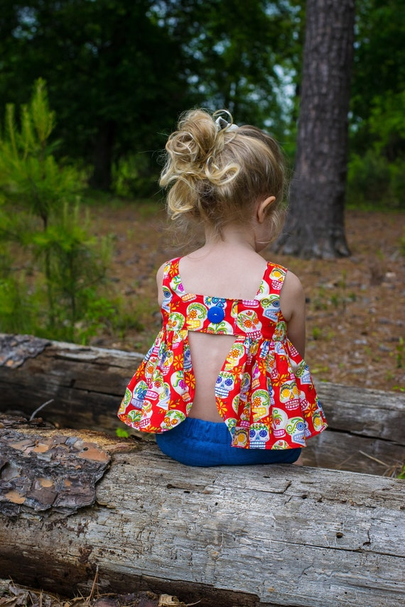 Sugar Skulls Summer Short Set - Cinco De Mayo Top - Sugar Skulls Short Set - Bubble Short Set