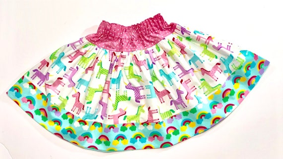 Girls Unicorn Twirl Skirt - Unicorn Skirt - Rainbow Skirt