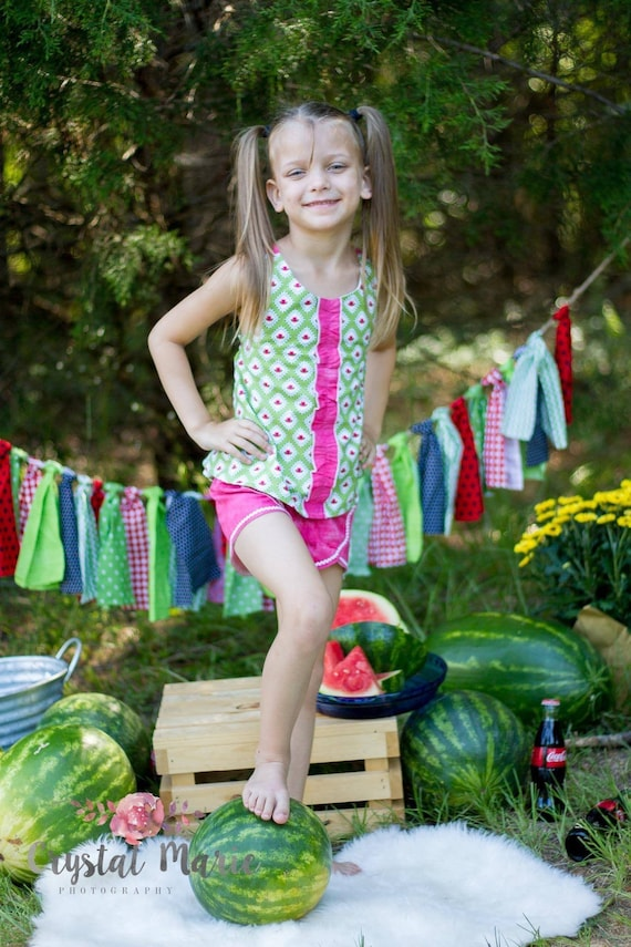 Girls watermelon short set - last one