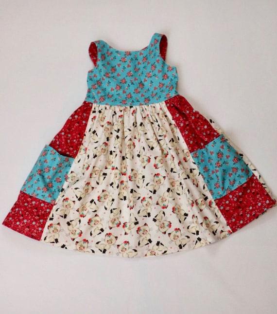 Sweet Summer Kitty Dress - Kitten Dress - Cat Dress - Summer Kitten Dress