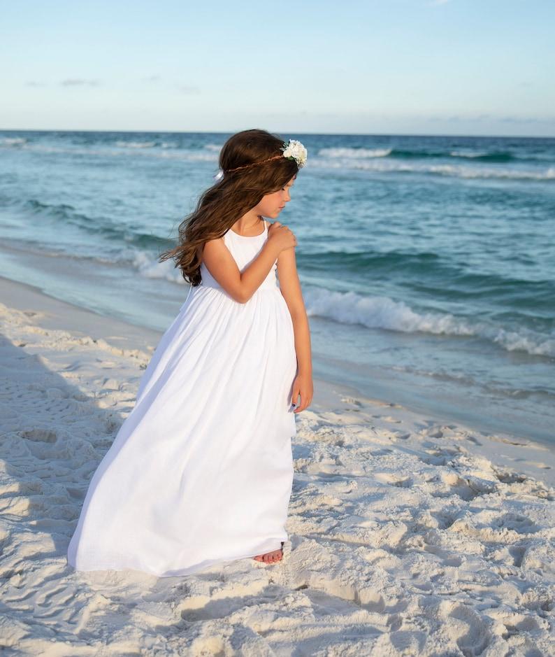 6b2a5d8ca5a Girls White Beach Dress White Beach Maxi Dress Beach
