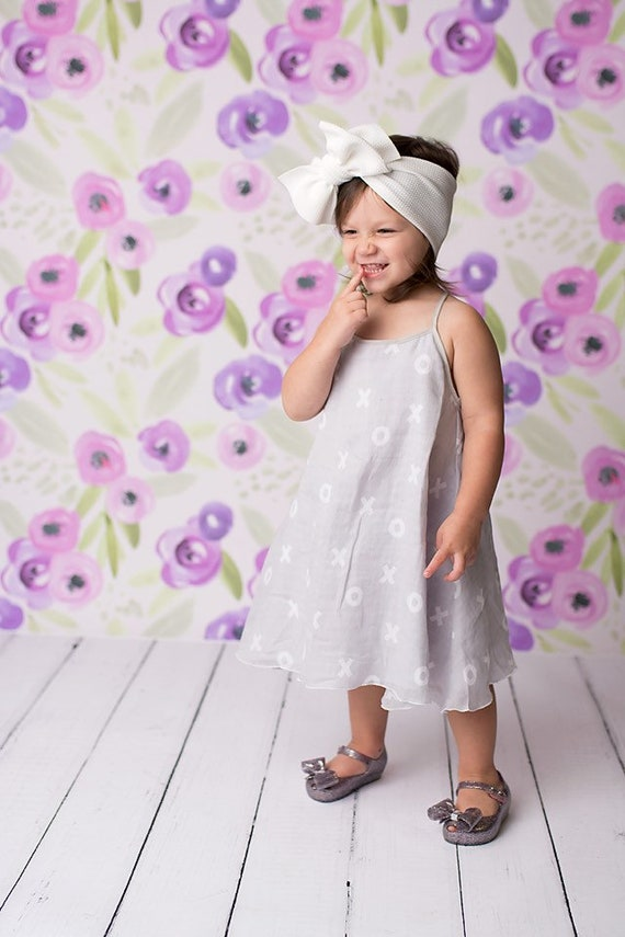 Girls Gray and White Gauze Dress X O X O - Urban Sun Dress - Girls Downtown Summer Dress