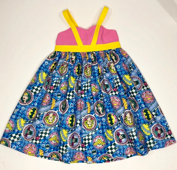 Girls Super Hero Dress - Super Woman Hero Dress