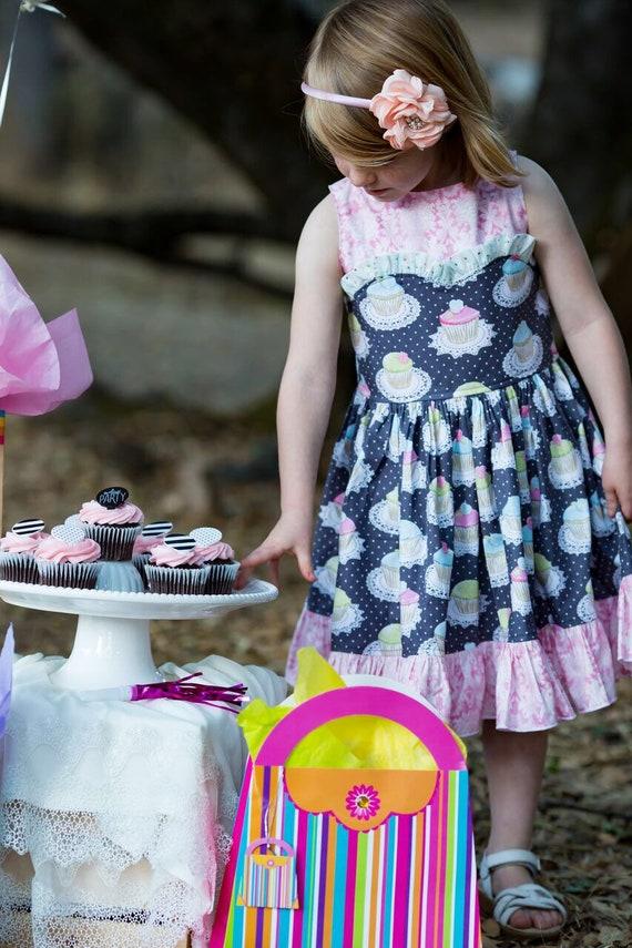 Girls Cupcake Birthday Dress - Cupcake Dress