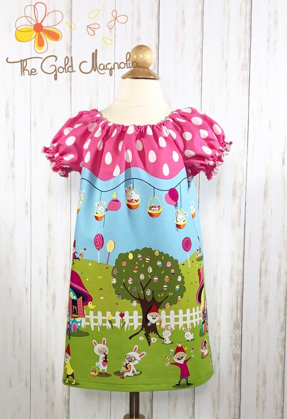 Girls Easter Dress - Gnome Easter Dress