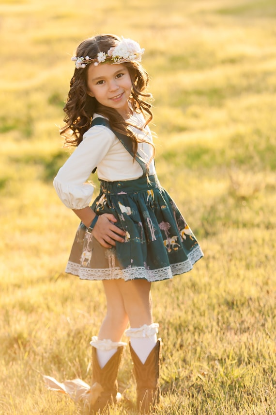 Girls Unicorn Suspender Skirt – Unicorn Skirt – Fall Boutique Skirt –  Lace Skirt- Suspender Skirt