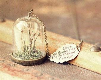 L.O.V.E - Love as Magical as the Enchanted Forest - Elegant, Exquisite, Beautiful Everyday Necklace. Sweet Heirloom Quality Gift.
