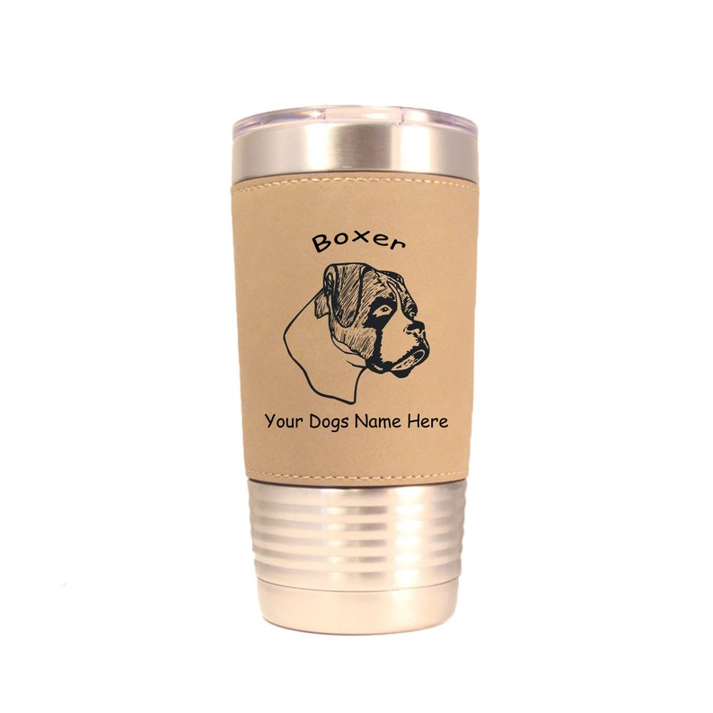 1949 Boxer Head Uncropped 20oz Polar Camel Tumbler with Lid image 0