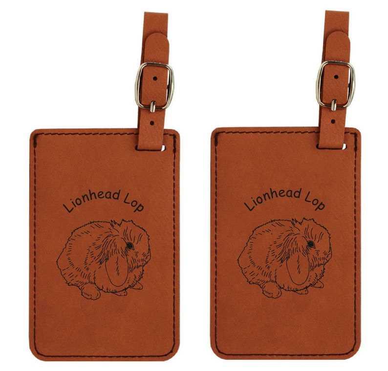 Lionhead Lop Rabbit Luggage Tag 2 Pack  FREE SHIPPING image 0