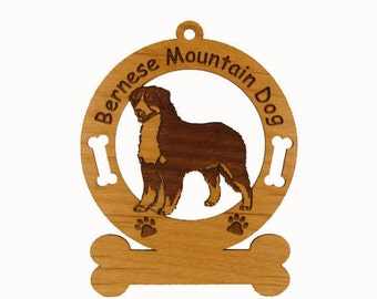 1714 Bernese Mountain Dog Personalized Ornament