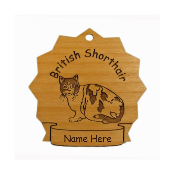 British Shorthair Cat Wood Ornament 087103 Personalized With Etsy