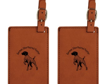 German Shorthaired Pointer Luggage Tag 2 Pack L3330 - FREE SHIPPING