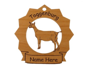 Toggenburg Goat Personalized Ornament