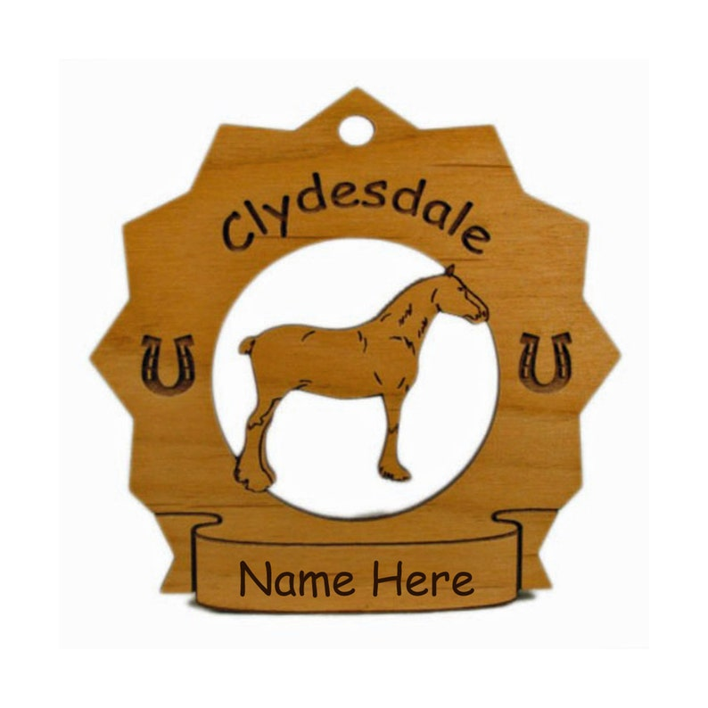 8099 Clydesdale Horse Ornament Personalized with Your image 0