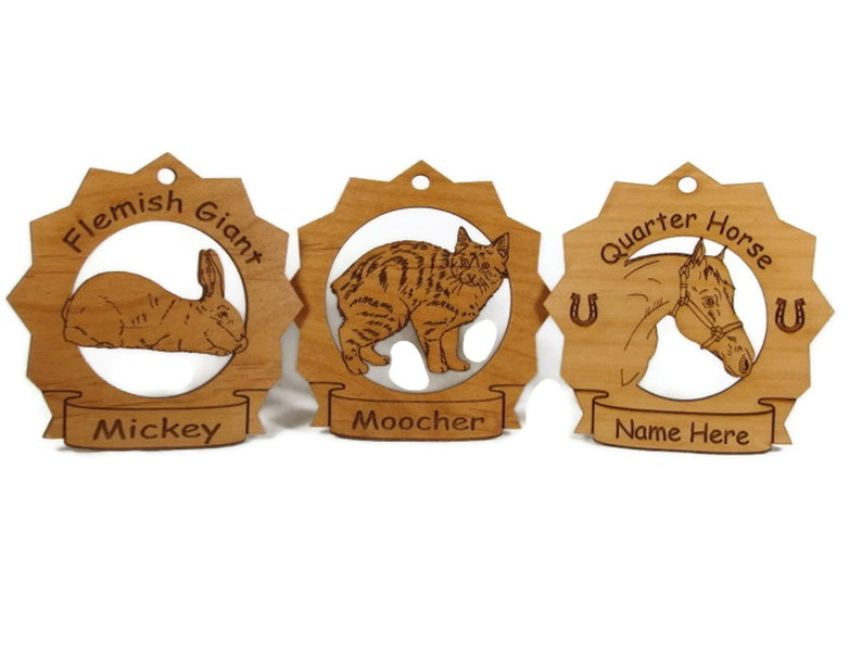 2112 Chihuahua Head #2 Dog Ornament Personalized with Your Dog/'s Name