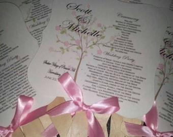 Wedding Fan, Wedding Fans, Wedding Program, Paper Fan, Wedding, Favor