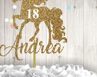 Unicorn, Unicorn Horn, Birthday, Birthday Cake, Cake Topper, Glitter Cake Topper, Happy Birthday, Cupcake, Topper, Glitter, Personalized