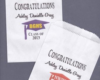 Graduation, Candy Buffet Bag, Favor Bags, Cookie Bar, Treat Bags, Personalized Bags, Graduation Party, Graduation Favor, Cake Topper 50 bags