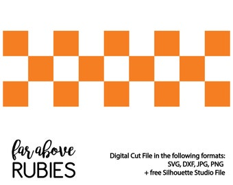 Checkerboard Pattern - SVG, DXF, png, jpg digital cut file for Silhouette or Cricut Tennessee
