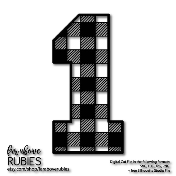 Number One 1 In Buffalo Plaid Pattern First Birthday Boy Girl Etsy