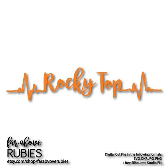 Rocky Top Tn Tennessee Heartbeat Ekg Svg Eps Dxf Png Jpg Etsy
