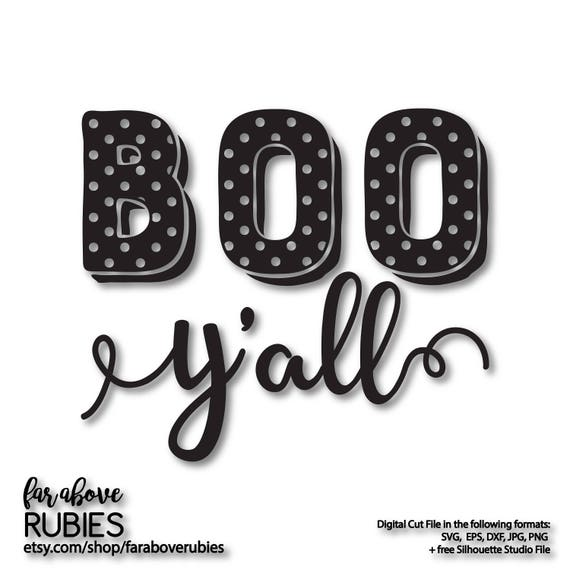 Boo Y All Polka Dot Pattern Halloween Fall Svg Eps Dxf Etsy