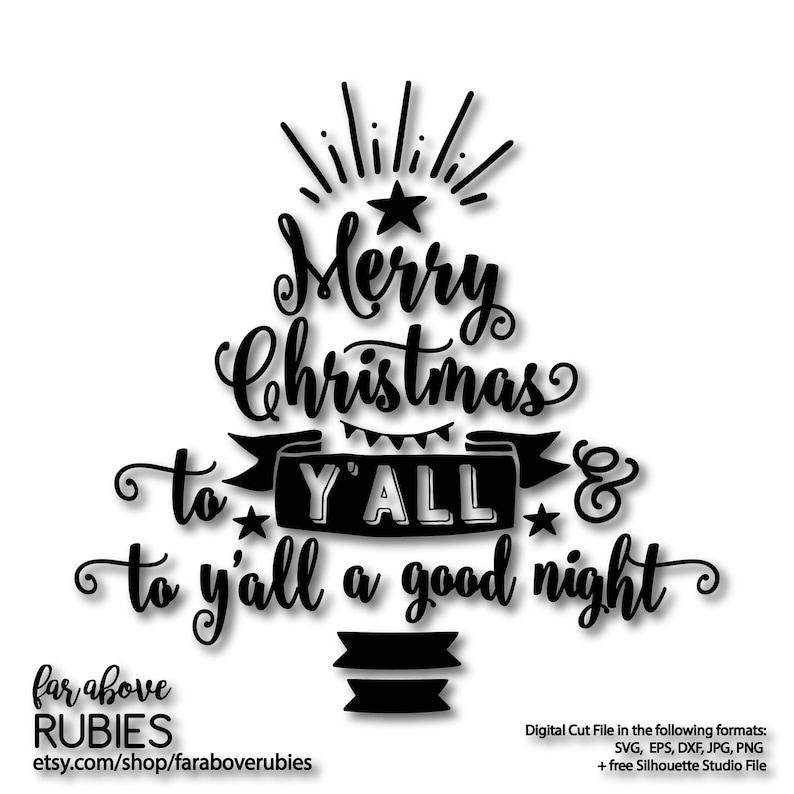 Frohe Weihnachten Philippinisch.Frohe Weihnachten Y All Und Y All Ein Gute Nacht Baum Mit Stern Banner Svg Eps Dxf Png Jpg Digitale Geschnitten Datei Für Silhouette Oder