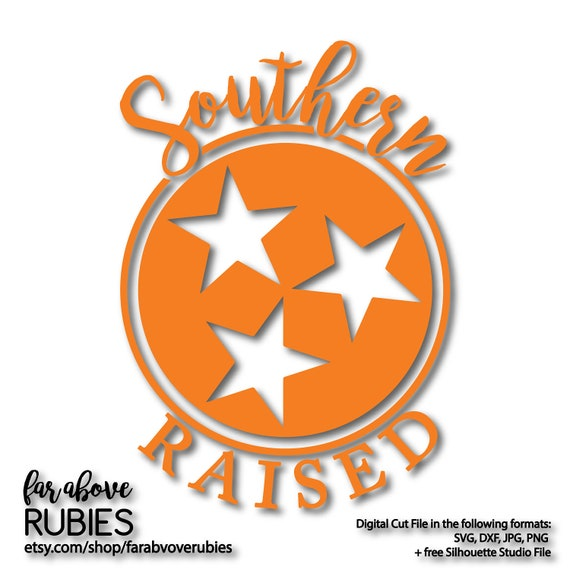 Southern Raised Tn Tennessee Tristar With Border Ring Svg Etsy