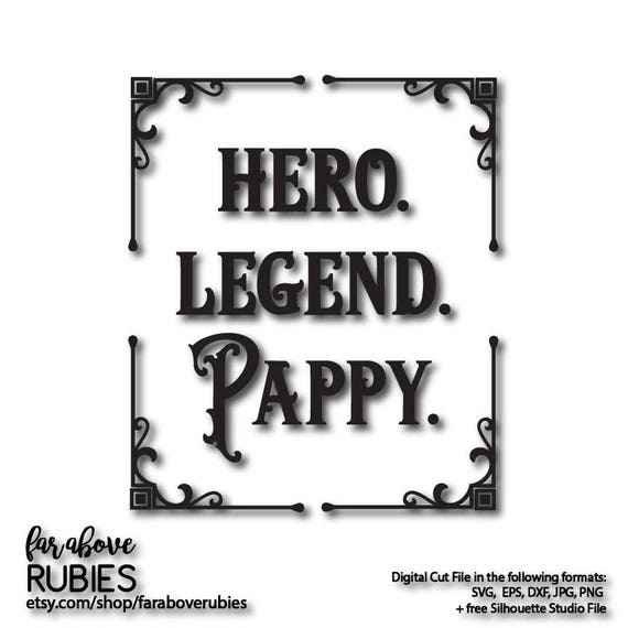 Hero Legend Pappy For Grandfather Father S Day Western Etsy